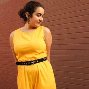 Mustard Yellow New York and Company Jumpsuit S